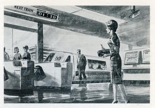BART station illustration, 1967