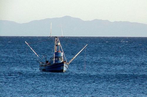 Fishing boat off the coast of California