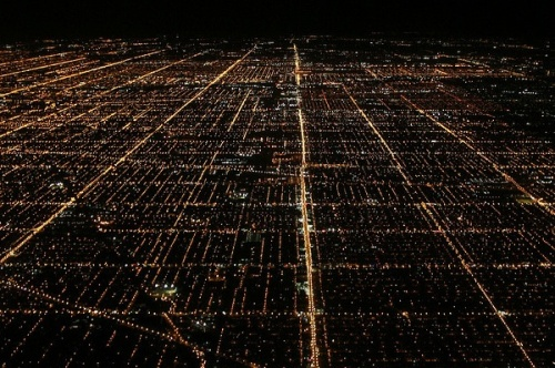 Chicago streets at night