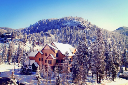 Houses in Keystone, CO, located in the Arapaho National Forest