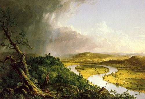 Thomas Cole - View from Mount Holyoke, Northampton, Massachusetts, after a Thunderstorm (The Oxbow)