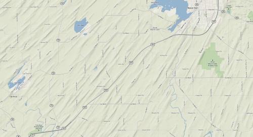 Terrain view of area around Beaver Dam, Wisconsin