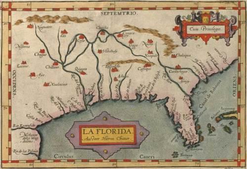 La Florida, by Abraham Ortelius